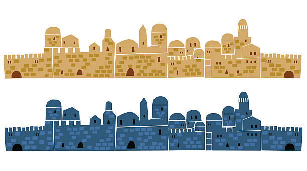 Best Jerusalem Illustrations, Royalty.