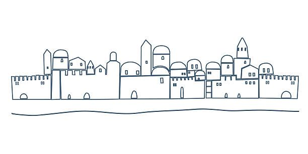 Jerusalem Night Clip Art, Vector Images & Illustrations.