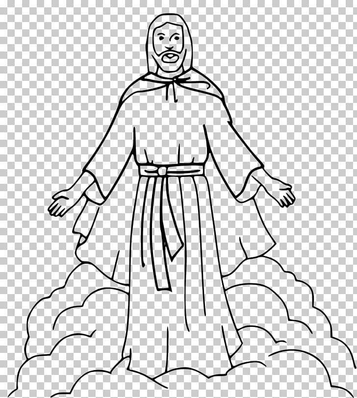 Coloring book Depiction of Jesus Bible Ascension of Jesus.