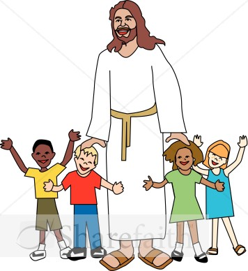 jesus children clip art.