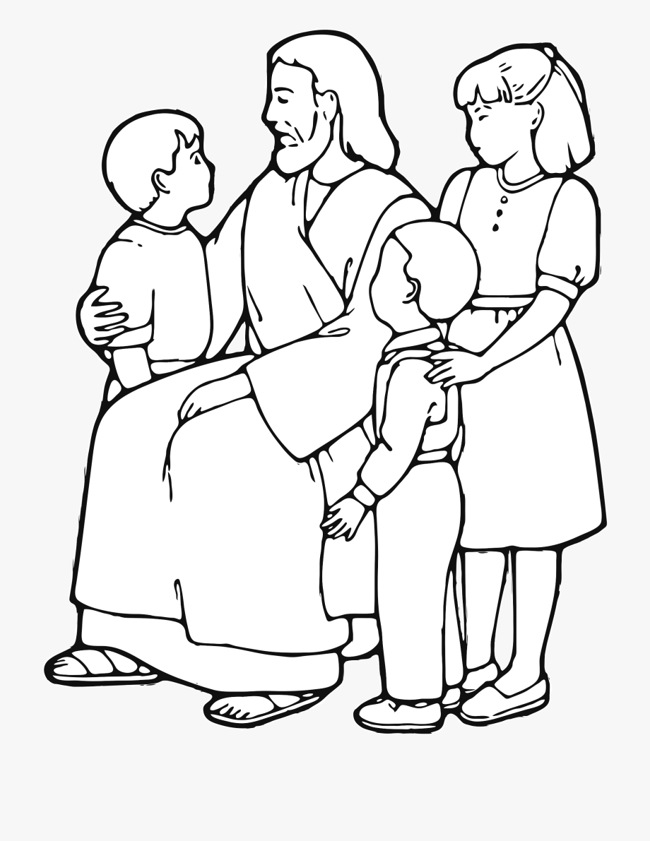 Jesus Teaching Children Clipart.