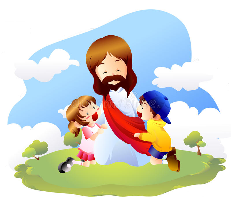 Jesus Children Stock Illustrations.