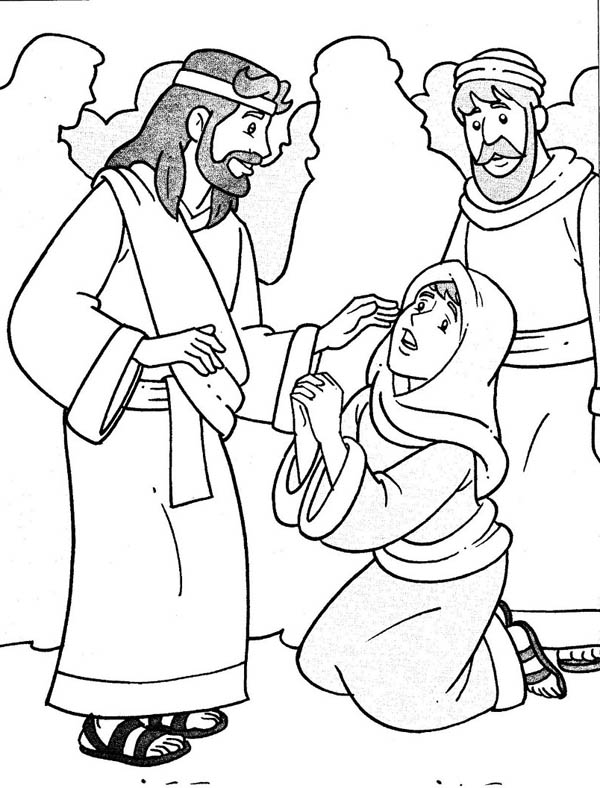 Jesus miracles healing clipart.
