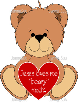 Jesus loves you beary much craft.