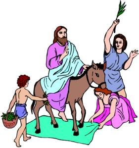 Download Free png Clipart For Jesus On Donkey With Doves.