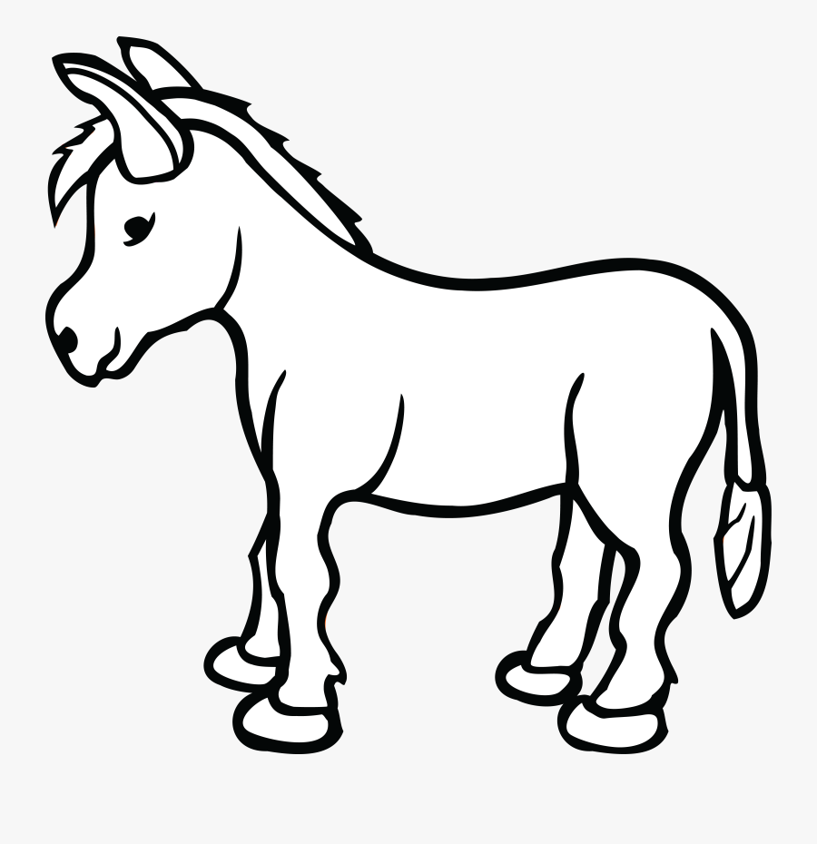 Jesus On Donkey Png Black And White , Free Transparent.