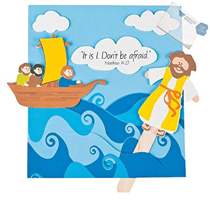 Amazon.com: Bargain World Foam Jesus Walks on Water Craft.