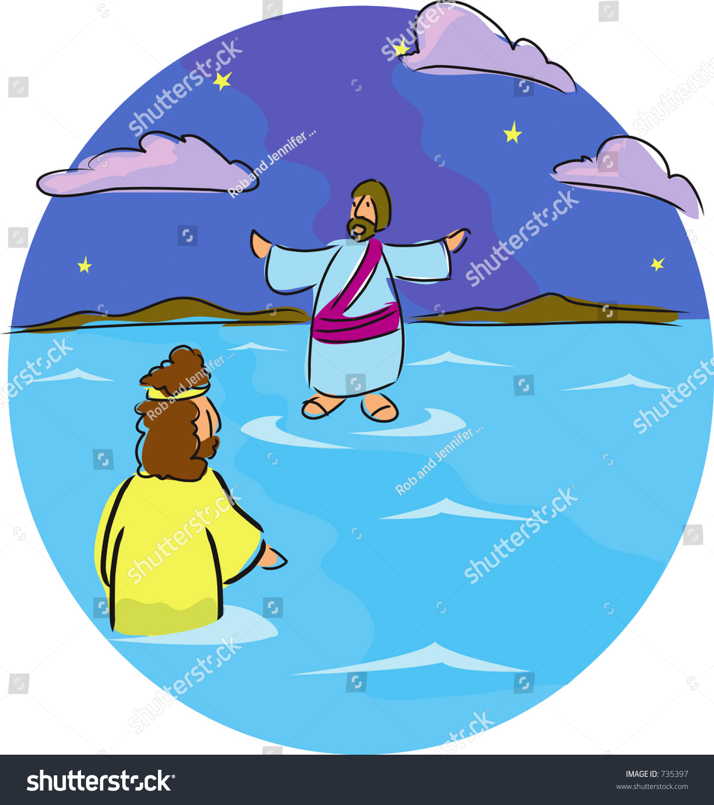 Jesus walks on water clipart 7 » Clipart Station.