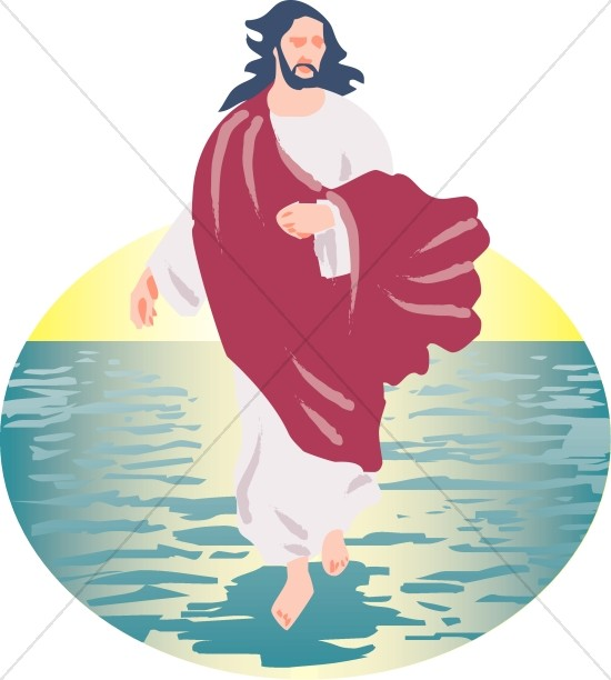 Jesus walking on water clipart 5 » Clipart Station.
