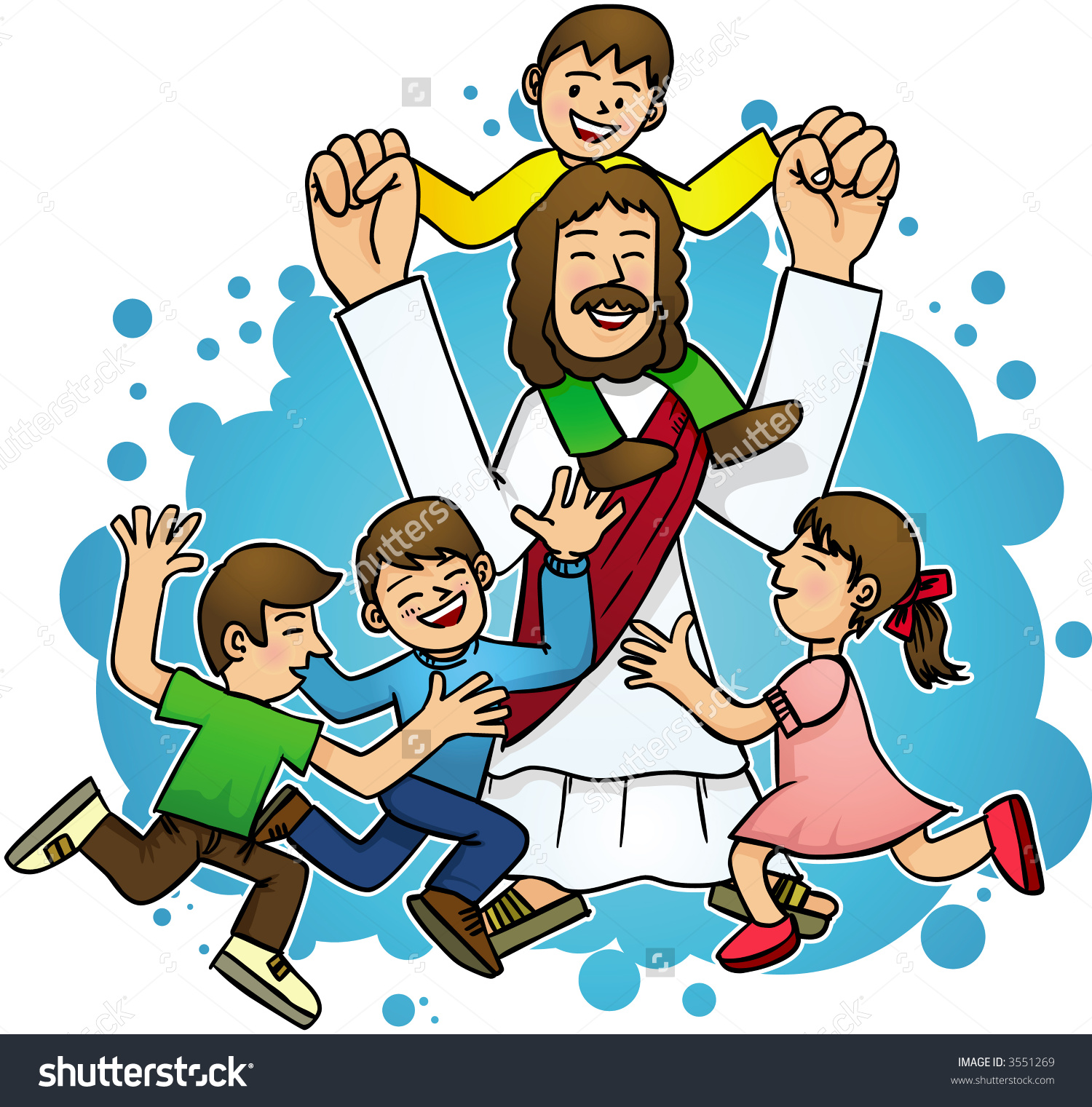 Jesus with children clipart 7 » Clipart Station.