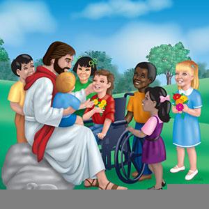 Jesus Loves Little Children Clipart.