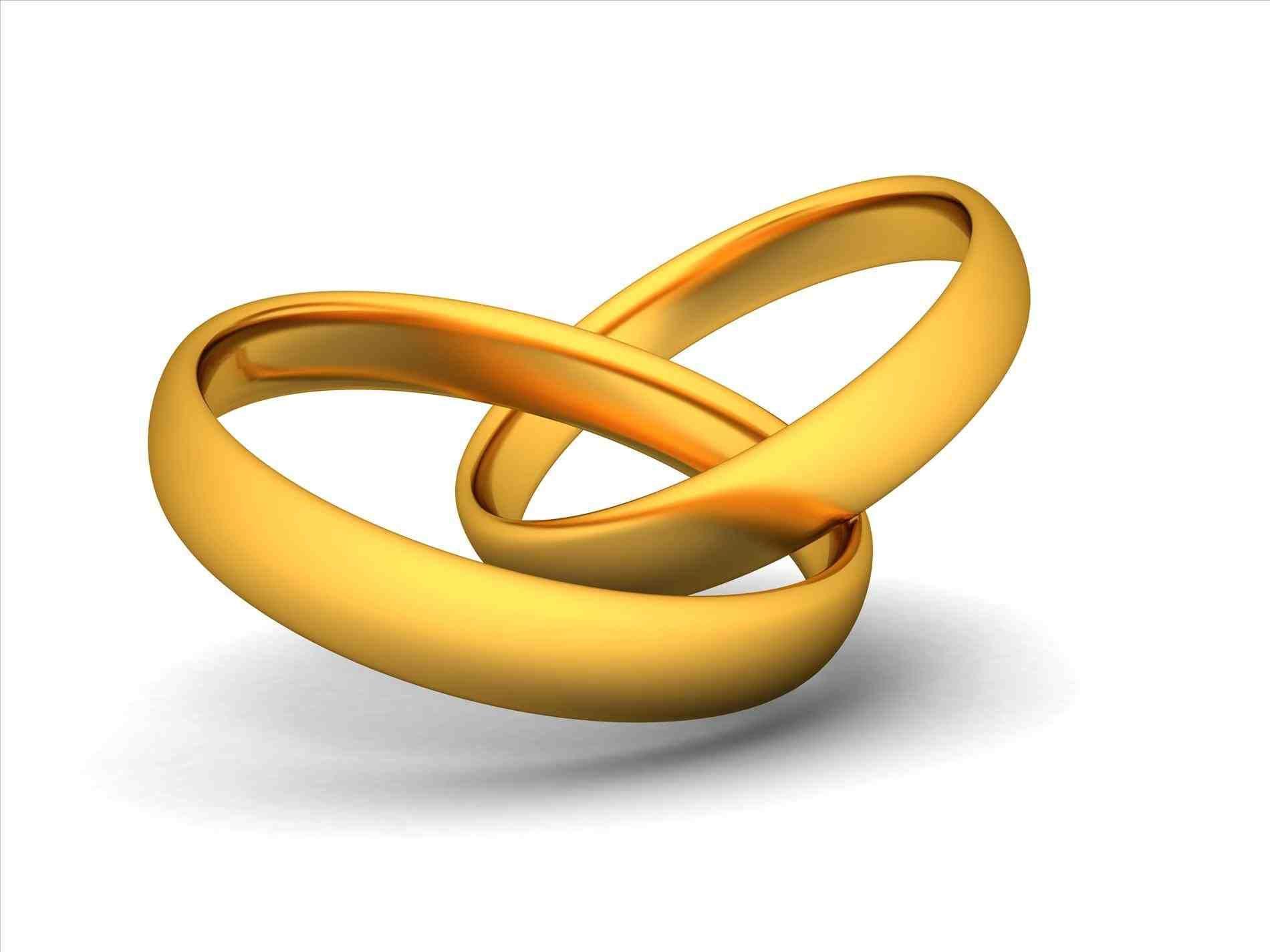 gold wedding bells clipart.