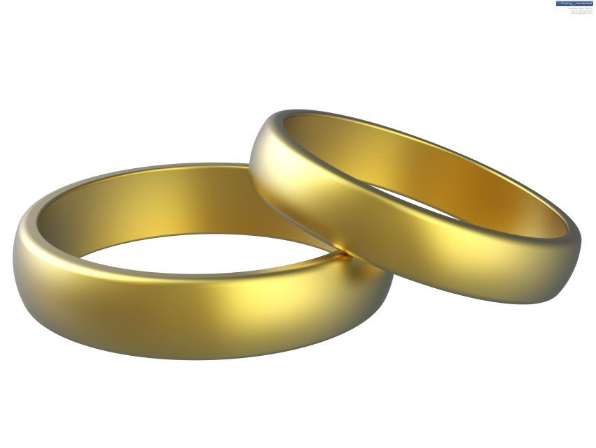Wedding Rings Entwined Clipart. SMLF.
