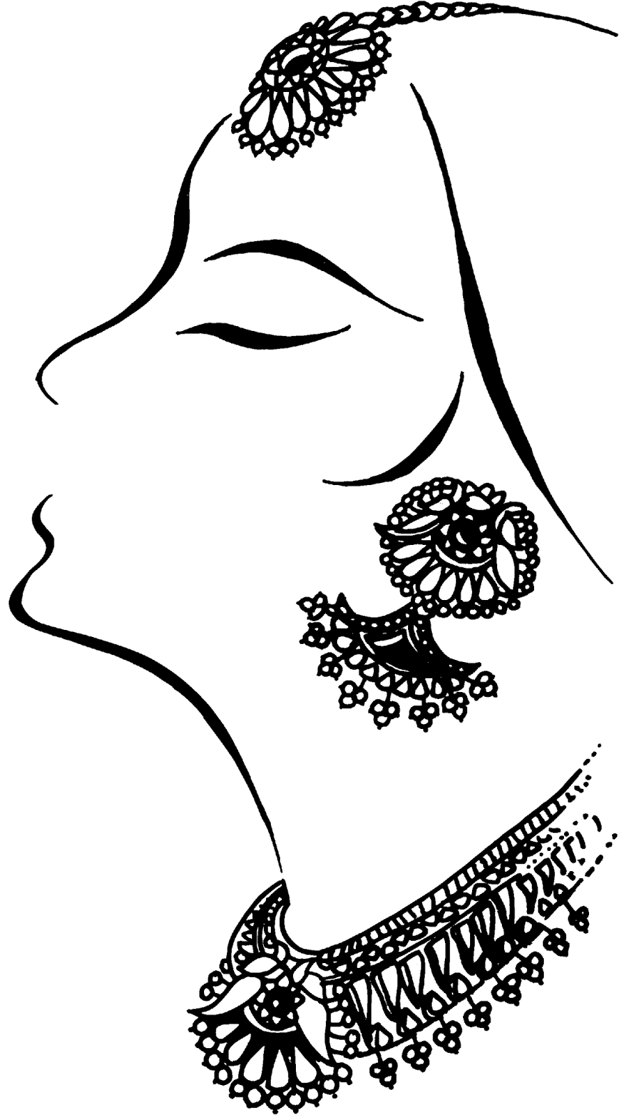 Jewellery Model Clipart.