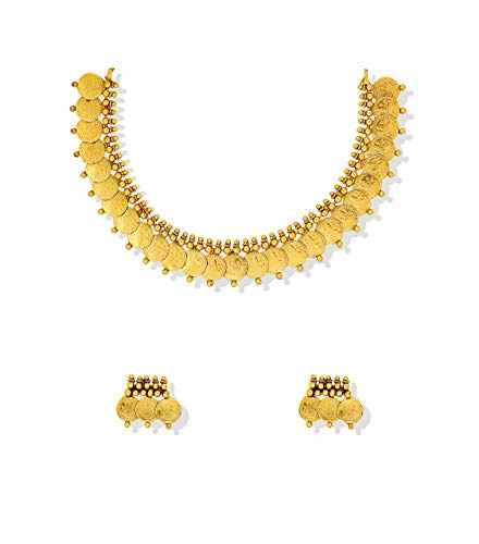 Buy Zaveri Pearls Jewellery Set for Women (Golden) (ZPFK5219.
