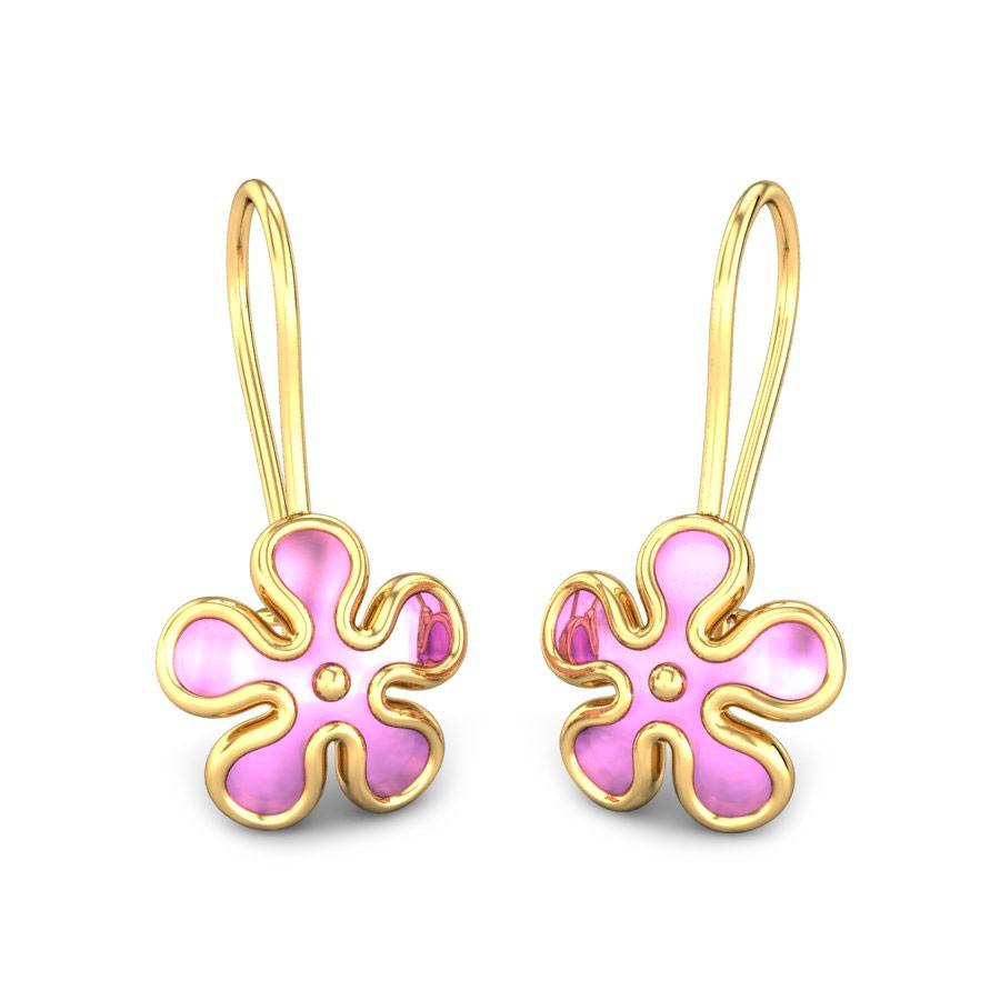 Full Bloom Kids Gold Earrings.