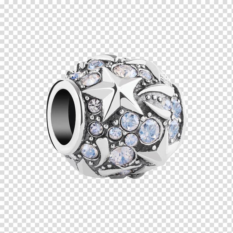 Jewellery Silver Charm bracelet Bitxi, beads transparent.