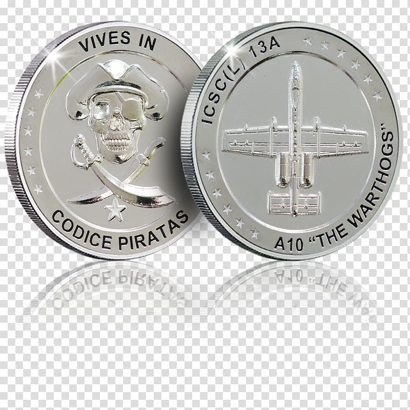 Silver Coin Royal Air Force Nickel Body Jewellery, silver.