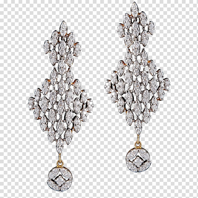 Earring Silver H&M Gold Body Jewellery, silver transparent.