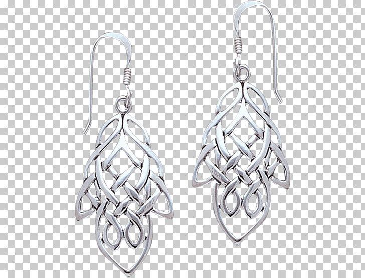 Earring Silver Body Jewellery Celtic knot, gifts knot PNG.