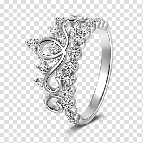 Wedding ring Silver Gift Jewellery, silver crown transparent.
