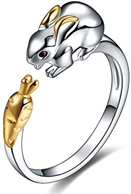 Kebaner 925 Sterling Silver Plated Zircon Chinese Zodiac.