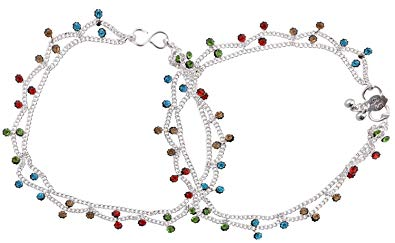 Buy K.K. Payal Silver Plated Anklets for Women.