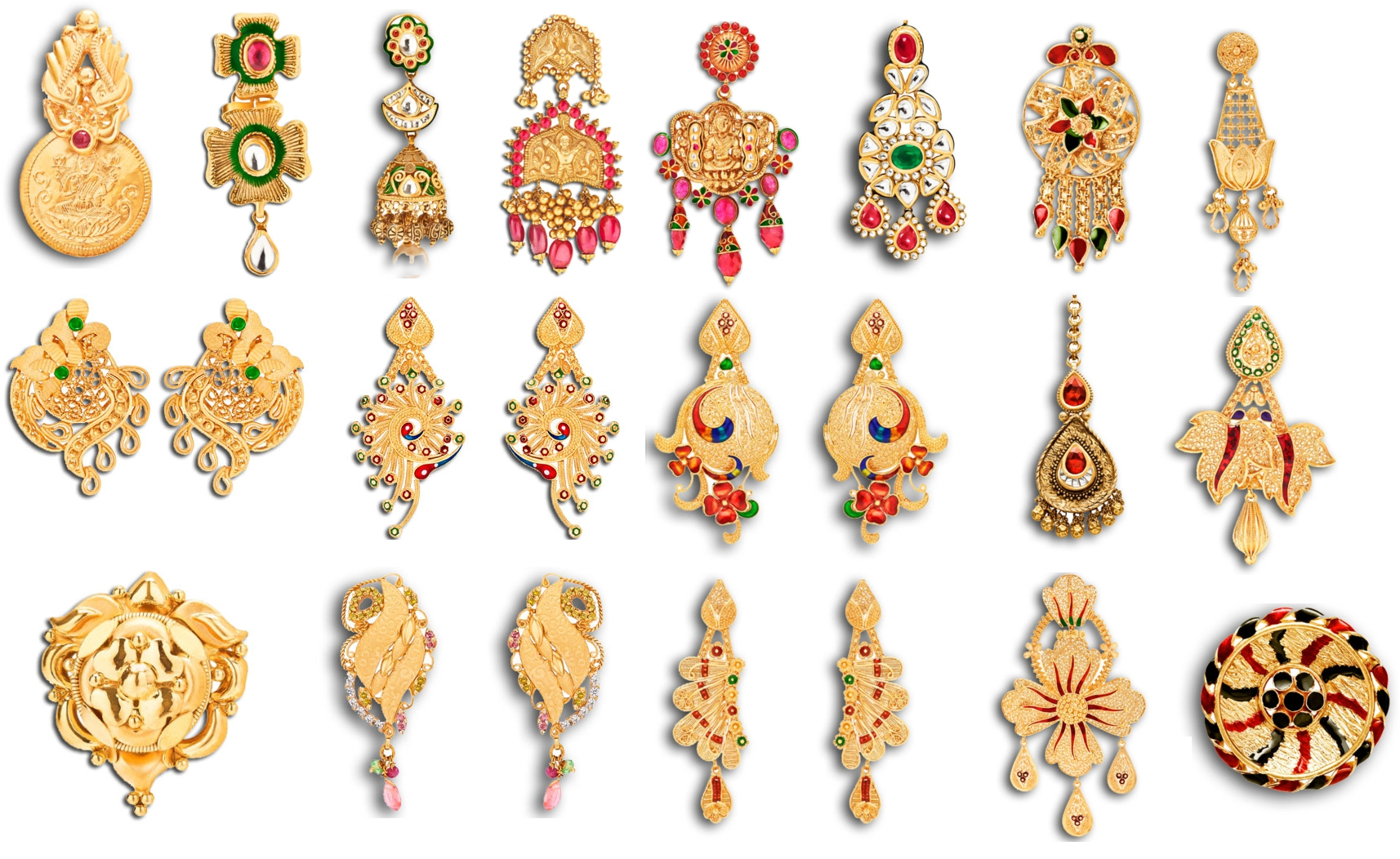 Explore your feminine side with these delicate gold earrings.