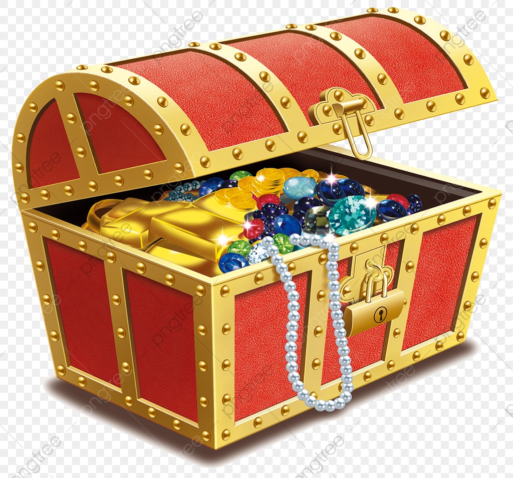A Box Of Gold And Silver Jewelry Illustrations, Jewelry Clipart.