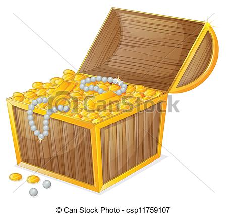 Vector Clipart Of A Jewellery Box.