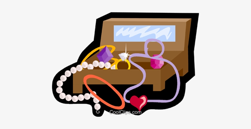 Jewelry Box, Necklace, Pearls Royalty Free Vector Clip.