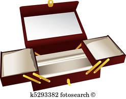 Jewelry Box Clipart Vectors.