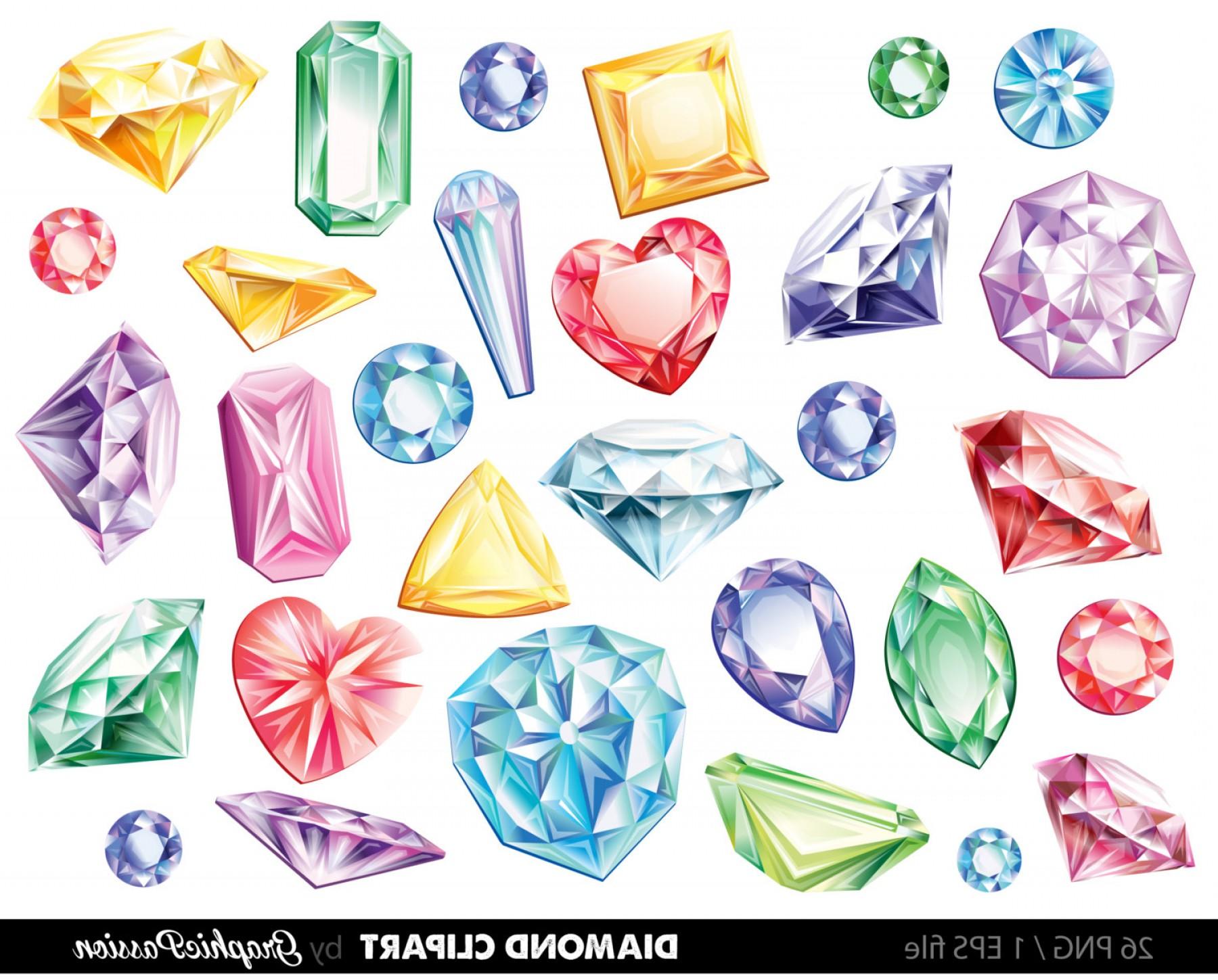 Diamonds Clipart Vector Gems Clip Art.