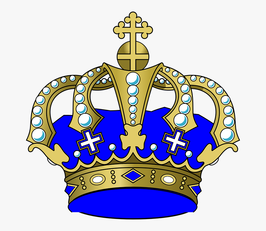 Crown, Jewels, Cross, Blue, King, Power.