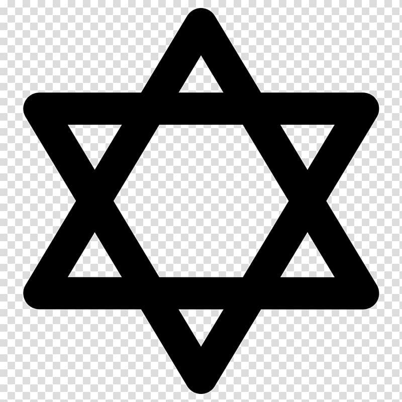 Star of David Jewish symbolism Judaism, Judaism transparent.