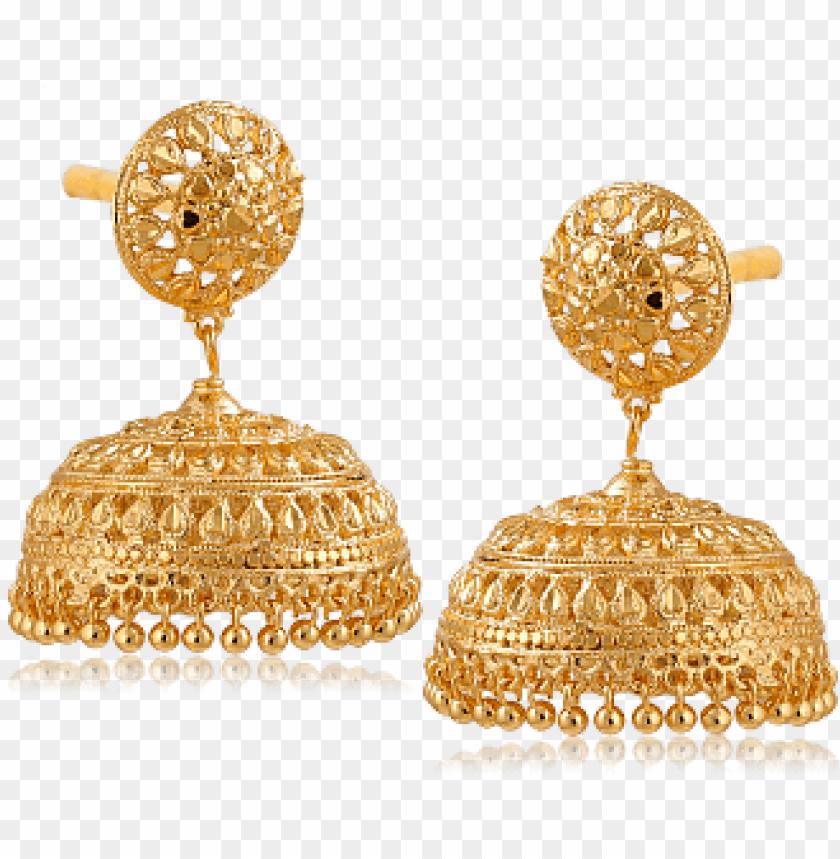 Download old earrings jhumka design nilanjan arts 18k gold.