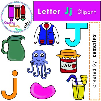 Letter Jj Digital Clipart.