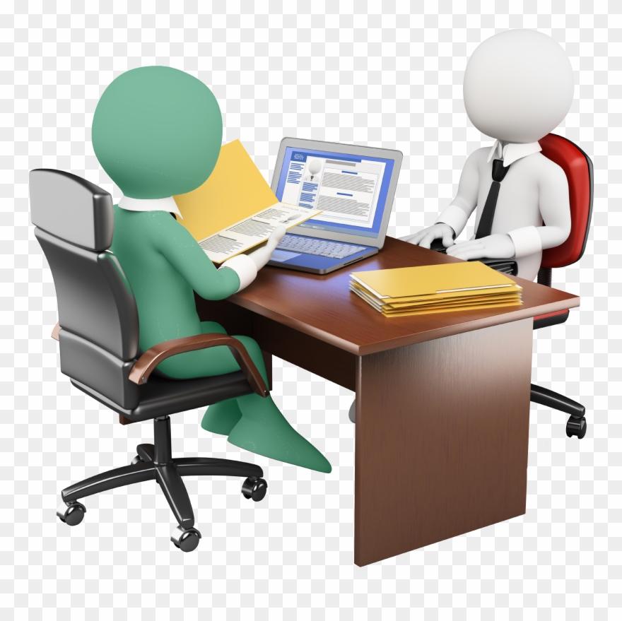 Job Interview Desk.