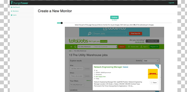 Employment website Website monitoring Web page, online job.