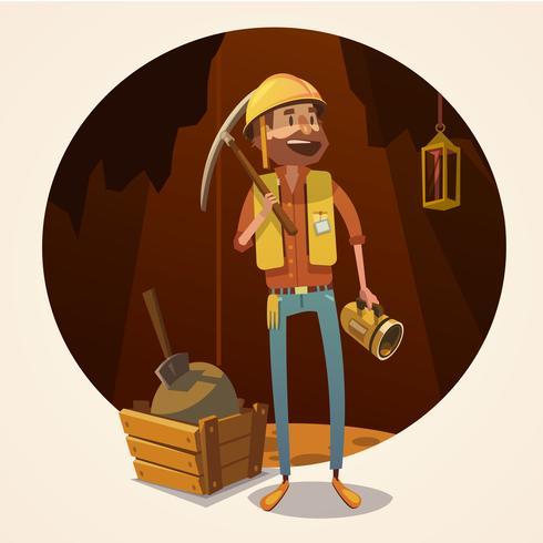 Mining concept illustration.