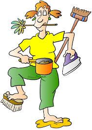 Images of overwhelmed house wife clip art.