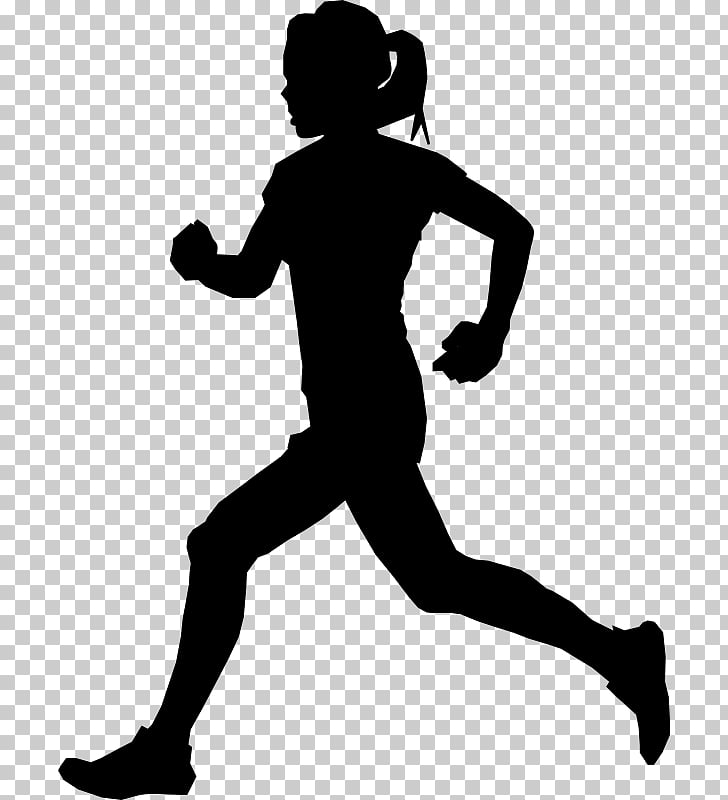 Silhouette , jogging PNG clipart.