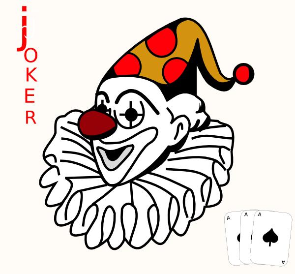 1798 Joker free clipart.