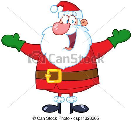 Jolly Santa Claus.