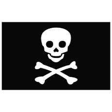 jolly roger clipart flag free vectors.