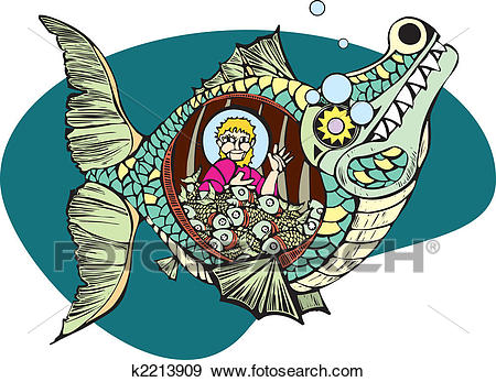 Jonah and the Whale Clip Art.