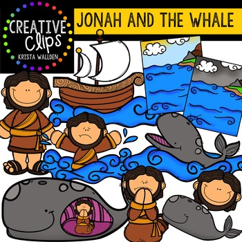 Jonah and the Whale {Creative Clips Digital Clipart}.