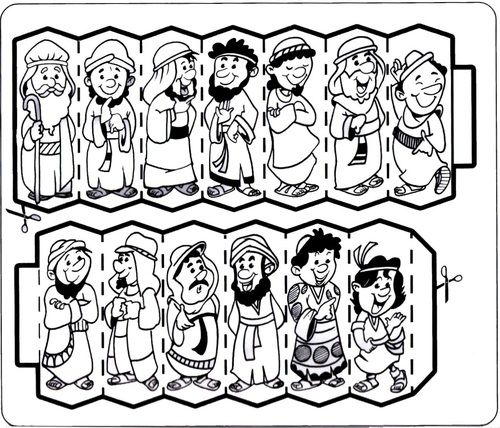 clipart joseph and his brothers