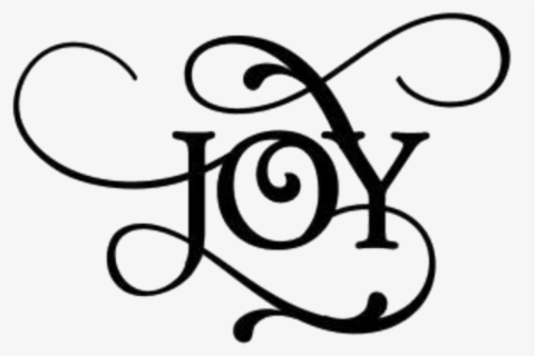 Free The Word Joy Clip Art with No Background.