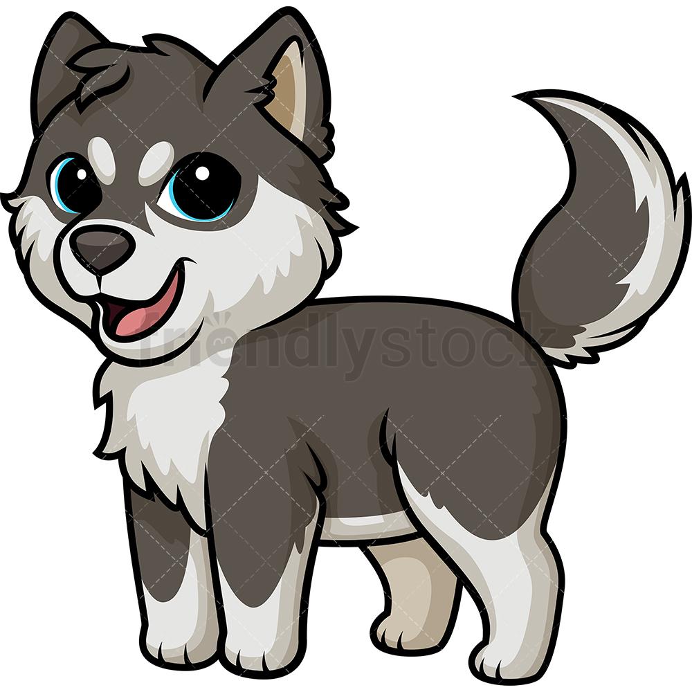 Joyful Husky Dog.
